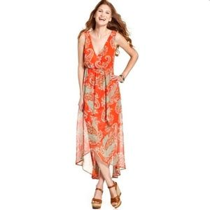 Kut from the Kloth | Paisley High Low Maxi Dress